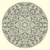 Vector round ornament. Vector illustration with vintage pattern for print, embroidery Stock Photo