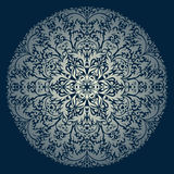 Vector round ornament. Vector illustration with vintage pattern for print, embroidery Royalty Free Stock Photo