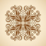Vector round ornament. Royalty Free Stock Image