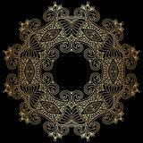 Vector round ornament. Royalty Free Stock Photography