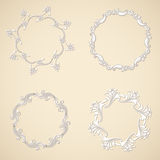 Vector round ornaments. Royalty Free Stock Images