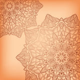 Vector round Ornate Background Royalty Free Stock Photos