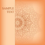 Vector round Ornate Background Royalty Free Stock Image