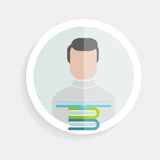 Vector round paper icon successful man Royalty Free Stock Photography