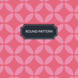 Vector round red pattern Royalty Free Stock Photo