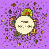 Vector round retro ornament Royalty Free Stock Images