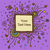 Vector round retro ornament. With square textbox. Eps10 Stock Photography