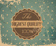 Vector round retro vintage badge Royalty Free Stock Images