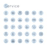 Vector Round Service Icons Royalty Free Stock Images