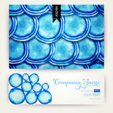 Vector round shapes watercolor  ornament. Paints. Watercolor blu. E banner.  Watercolor blue pattern. Round watercolor stains. Watercolor rounds background Stock Images