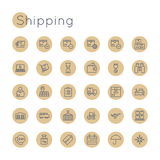 Vector Round Shipping Icons Royalty Free Stock Photos