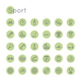 Vector Round Sport Icons Royalty Free Stock Photo