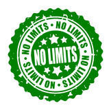 Vector round stamp NO LIMITS Royalty Free Stock Photography