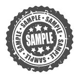 Vector round stamp SAMPLE Stock Photos