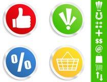 Vector Round Stickers Stock Photo