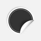 Vector round stickers with curled edge isolated on white background. Royalty Free Stock Photos