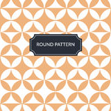 Vector round terracotta pattern Royalty Free Stock Photo