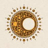 Vector round arabesque design with floral design. design for print, interior, tile Stock Photography