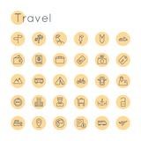 Vector Round Travel Icons Royalty Free Stock Photography