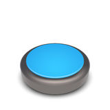 Vector round web button with metal frame and blue elements. Isolated on white Stock Photo