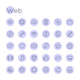 Vector Round Web Icons Royalty Free Stock Image
