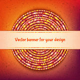Vector rounded banner with sample text on colored Stock Image