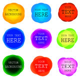 VECTOR rounded colorful frames set. Isolated on white Royalty Free Stock Photo