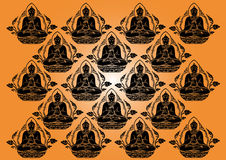 Vector Row of Buddha background Royalty Free Stock Photos