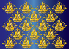 Vector Row of Buddha background Stock Photo
