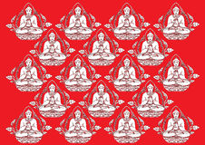 Vector Row of Buddha background Stock Photography