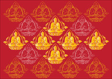 Vector Row of Buddha background Stock Image