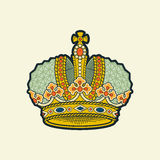 Vector royal crown illustration. Stock Images