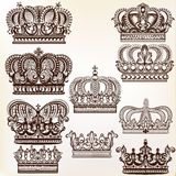 Vector royal crowns for design Stock Image