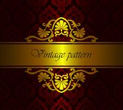 Vector royal damask floral pattern as a background. Vintage luxury rich baroque gold template. Vector royal damask floral pattern as a background. Vintage luxury stock illustration