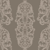 Vector Royal floral damask baroque ornament pattern Stock Photography