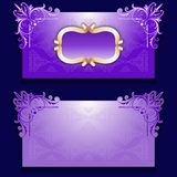 Vector royal invitation card with frame. And filigree ornate, place for text Royalty Free Stock Images