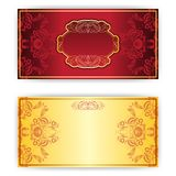 Vector royal invitation card with frame Royalty Free Stock Photos