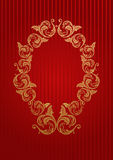 Vector royal wallpaper with floral frame Stock Photography