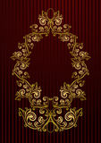 Vector royal wallpaper with floral frame Stock Photo