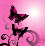 Vector roze achtergrond Royalty-vrije Stock Fotografie