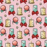 Vector Roze Feestelijke Kerstmis van Vakantiekaarsen Royalty-vrije Stock Afbeelding