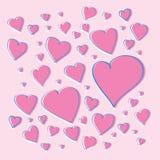 Vector roze harten Stock Foto