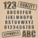 Vector rubber stamp abc. Vector rubber stamp character set Stock Photos