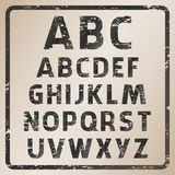 Vector rubber stamp abc. Vector rubber stamp character set Royalty Free Stock Photos