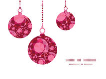 Vector ruby Christmas ornaments silhouettes Royalty Free Stock Photo