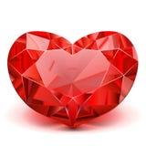 Vector Ruby Heart Imágenes de archivo libres de regalías