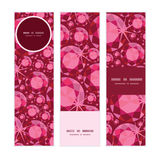 Vector ruby vertical banners set pattern Royalty Free Stock Images