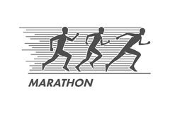 Vector run and marathon logo Royalty Free Stock Images