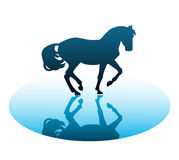 Vector running horses on a white background Stock Images