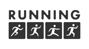 Vector running logo and symbol. Vector sport icon Royalty Free Stock Photo